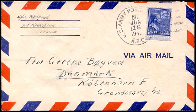 The Thirty-cent Prexie Airmail to Europe