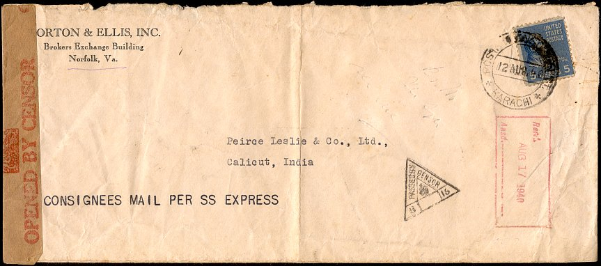 international postage was not included in the government free franking privilege so this 1939 letter to germany was sent using a five cent prexie